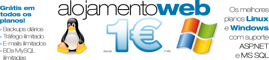 Web Hosting from 1 € / month! We offer the best plans to support Linux and Windows ASP.NET and MS SQL - Free on all plans: daily backups, unlimited bandwidth, unlimited emails, unlimited MySQL databases!